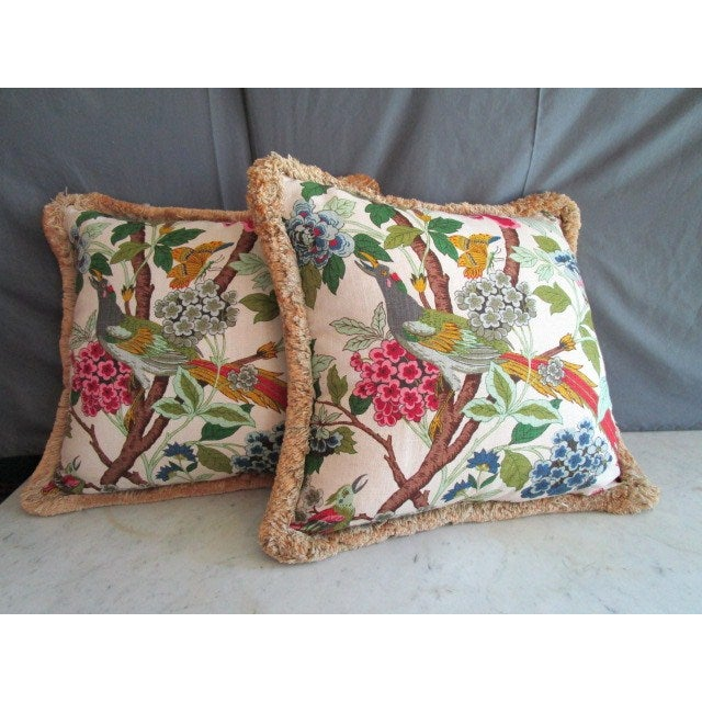 Tropical Fringe Accent Pillows - Pair - Image 2 of 4