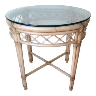 Ficks Reed Lattice Rattan Round Table