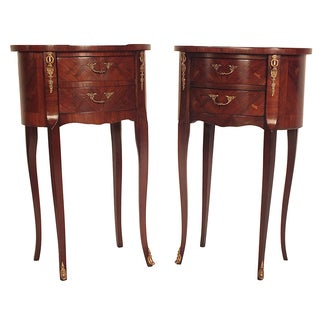 French 1950s Louis XV Style End Tables - A Pair