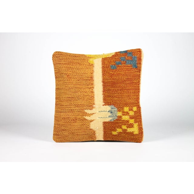 Ancient Motif Tribal Styled Tulip Pillow - Image 2 of 4