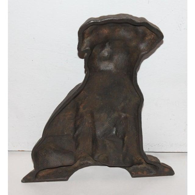 Monumental 19Thc Cast Iron Dog - Image 6 of 6
