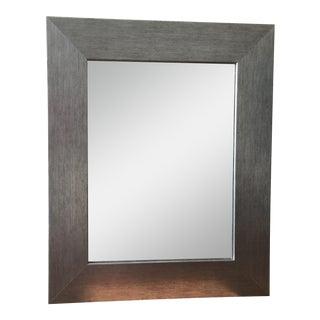 Modern Silver Frame Mirror