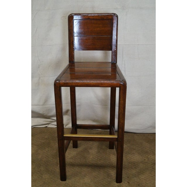Jonathan Charles Country Farmhouse Walnut Barstool - Image 2 of 10