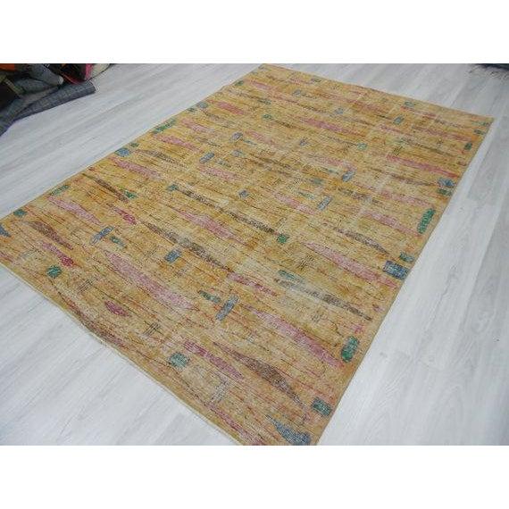 Vintage Turkish Art Deco Wool Rug - 6′11″ × 9′10″ - Image 3 of 4