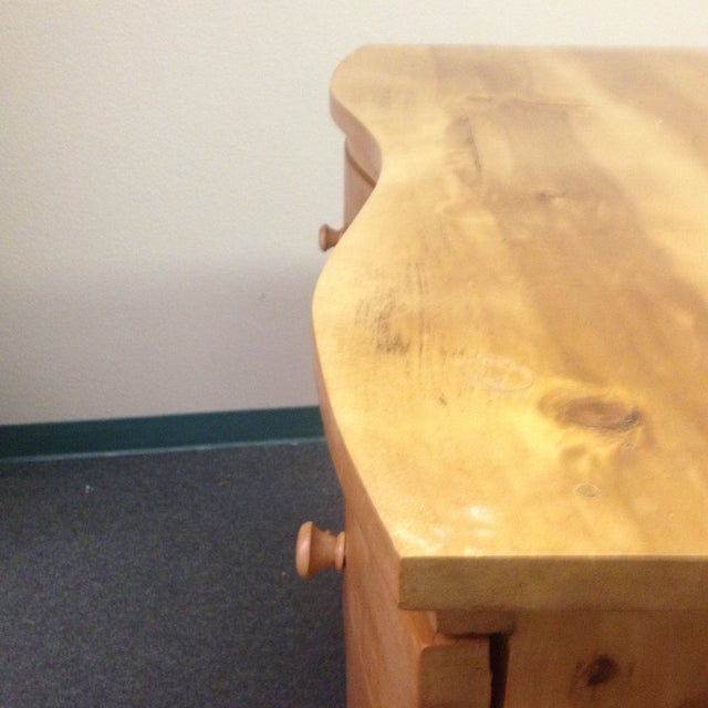 Large Curved Front Three Drawer Dresser - Image 4 of 9