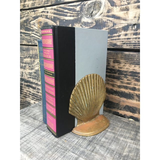 Vintage Brass Shell Bookends - A Pair - Image 3 of 7