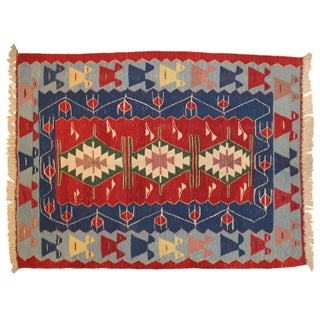 "Turkish Kilim Rug - 5'6"" x 3'9"""