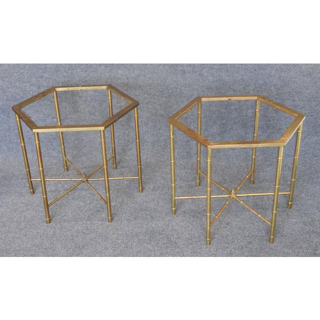 Brass Side Tables by Mastercraft - Pair - Image 2 of 7