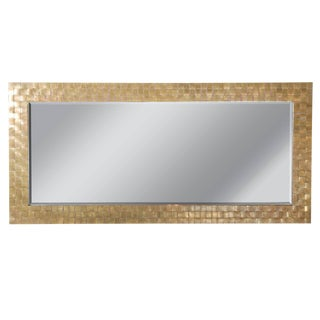 Brass Basketweave Decorative Mirror