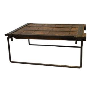 Industrial Elm Wood & Iron Coffee Table