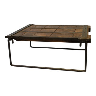 Industrial Elm Wood & Iron Coffee Table