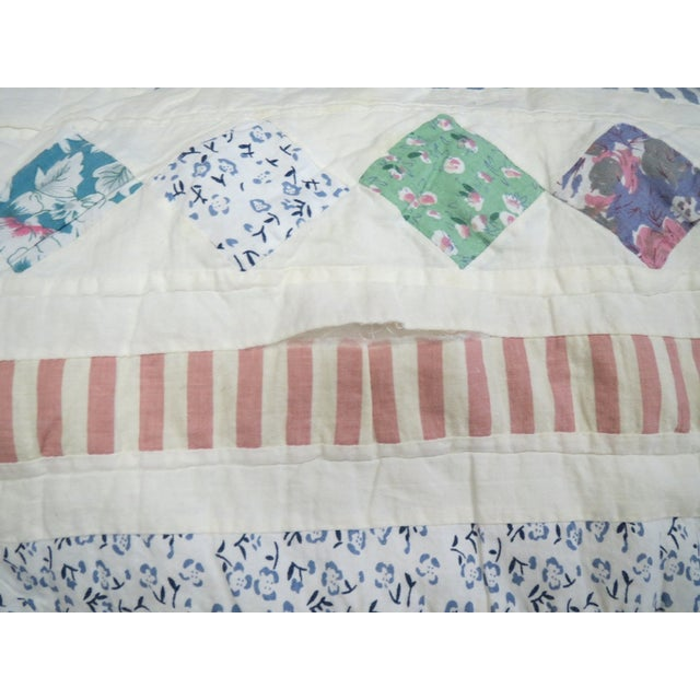 Vintage Feedsack Star Quilt - Image 8 of 8