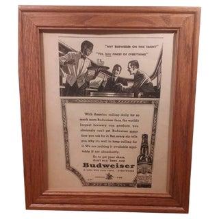 1947 Anheuser Busch Advertising Print