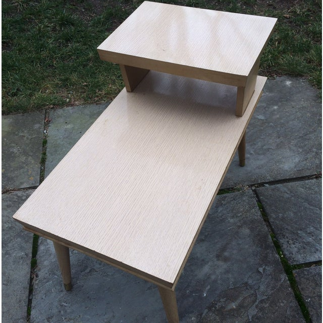 1950s Blonde Formica Two Tiered End Side Table - Image 6 of 9