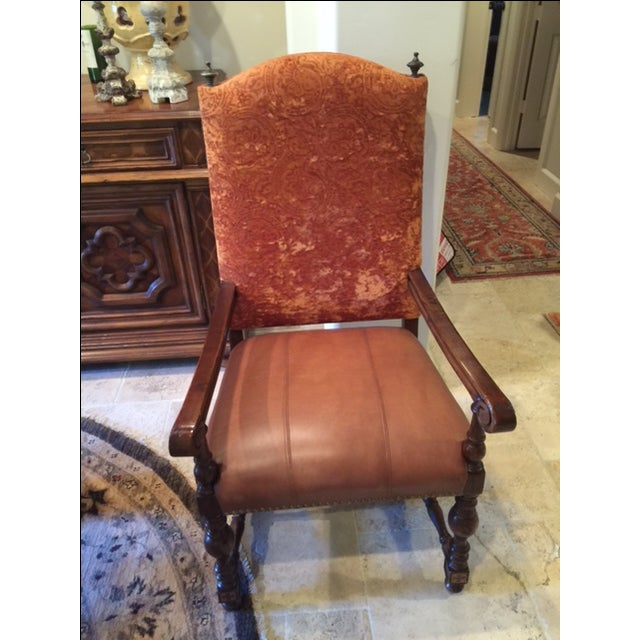 Leather Dining Room Chairs - Set of 8 - Image 2 of 4