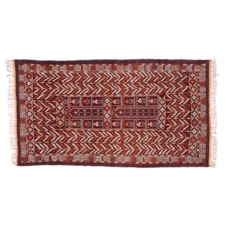 "Vintage Afghan Rug with Modern Tribal Style - 3'7"" X 6'5"""