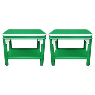 Chippendale Style End Tables - a Pair