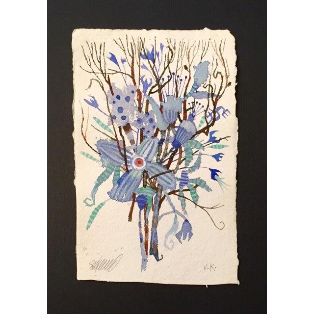 """""""Blue Brush"""" Original Watercolor - Image 2 of 3"""