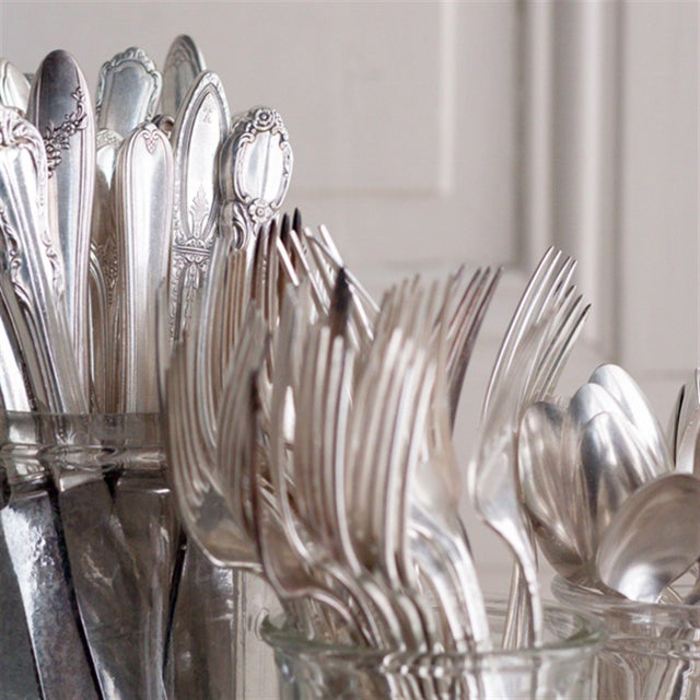 Image of Vintage Silverplate Dinner Forks - Set of 8