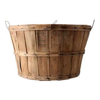 Vintage Wooden Orchard Basket
