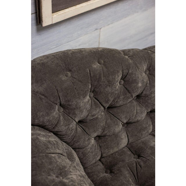 Charcoal Tufted Inverted Camelback Sofa - Image 5 of 6