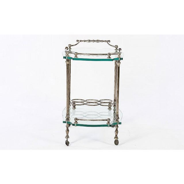 Exquisite French Art Deco Wrought Iron Bar Cart - Image 4 of 4
