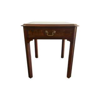 Hekman One Drawer Burlwood Side Table