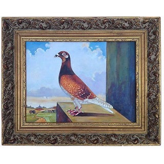 French Racing Pigeon Painting