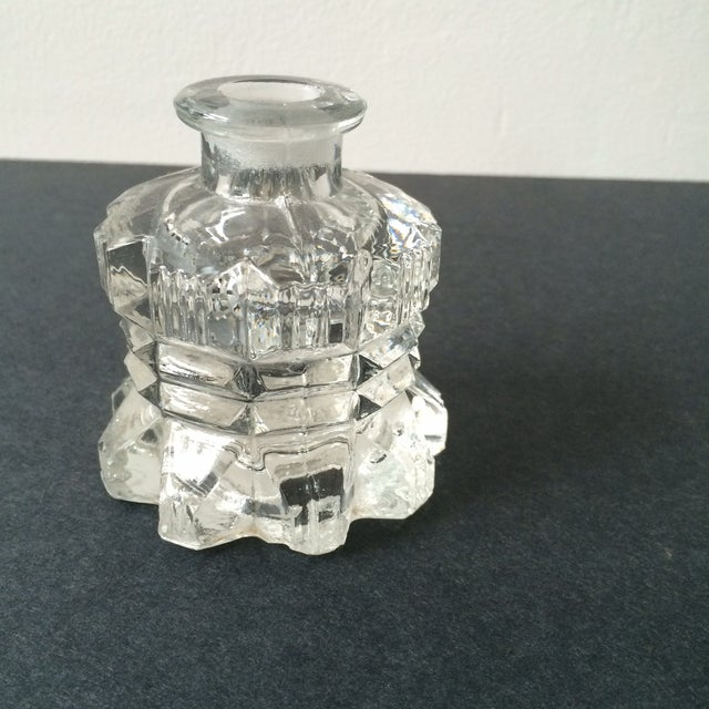 Image of Clear Glass Perfume Bottles - A Pair