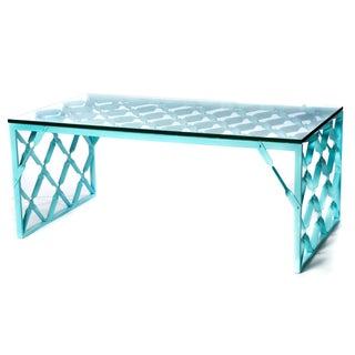 Aqua Turquoise Metal Table