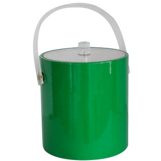 Vintage Kelly Green Ice Bucket