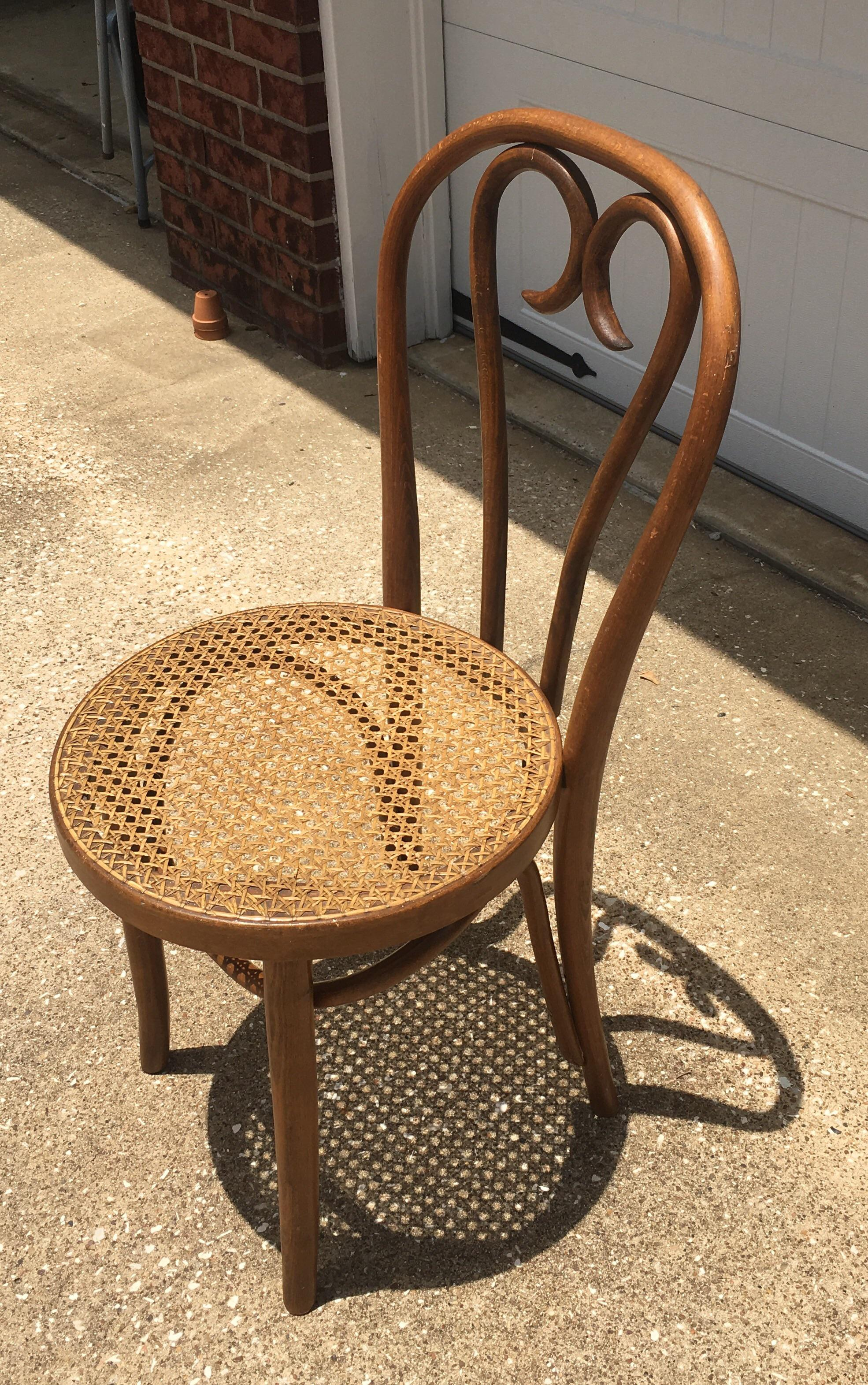 Vintage Bentwood U0026 Cane Chair In The Style Of Michael Thonet   Image 3 Of 11