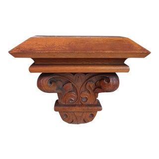 Carved Oak Shelf Bracket