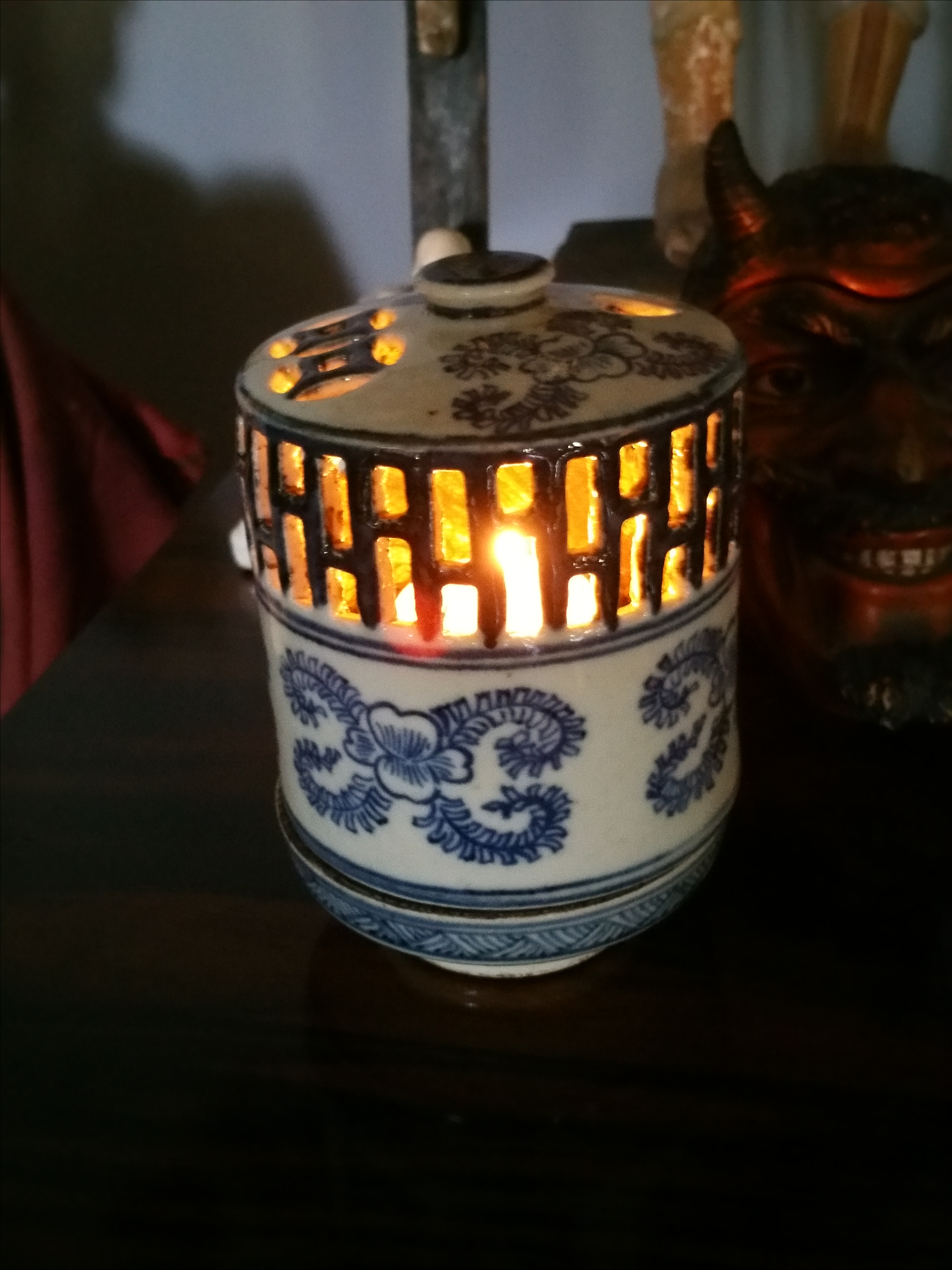 Asian style candle