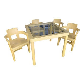 Vintage 70's Syroco Table & 4 Chairs - Set of 5