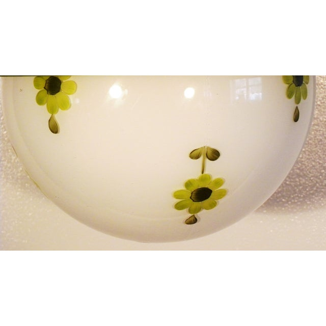 Chartreuse Flower Swag Lamps - A Pair - Image 6 of 7