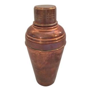 Vintage English Copper Cocktail Shaker
