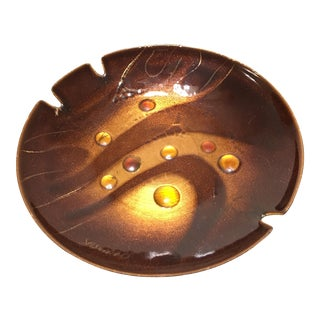 Sascha Brastoff Enamel on Copper Ashtray