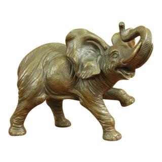 African Elephant Bronze Figure