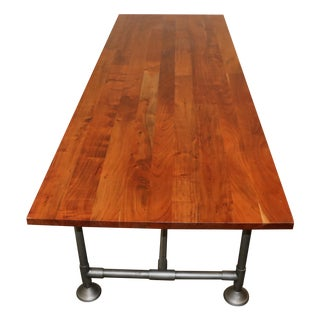 Industrial Teak Desk