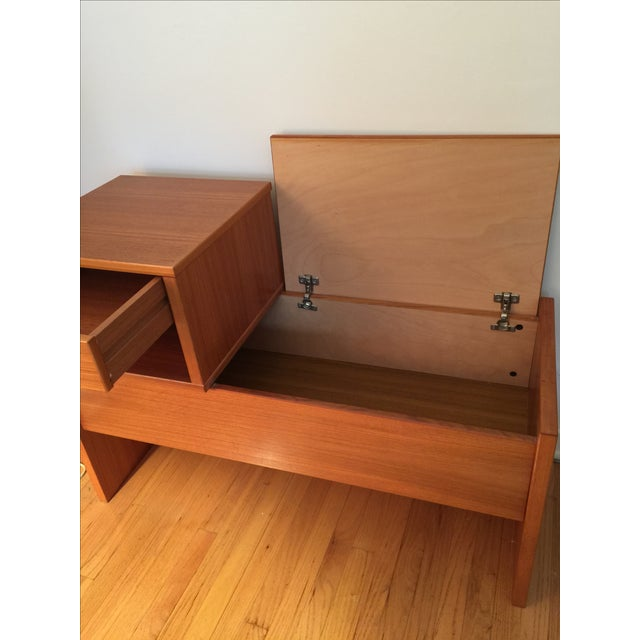 Mid-Century Danish Teak Storage Bench - Image 3 of 4