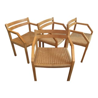 J. L. Moller Model #404 Birch Chairs - Set of 4
