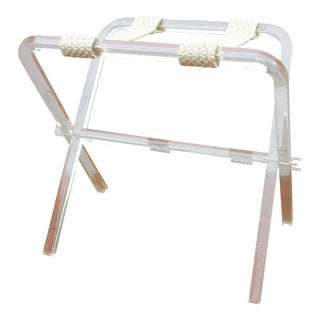 Mid-Century Modern Lucite Folding Luggage Rack