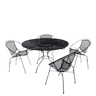 Salterini Outdoor Patio Dining Table & Chairs- Set of 5
