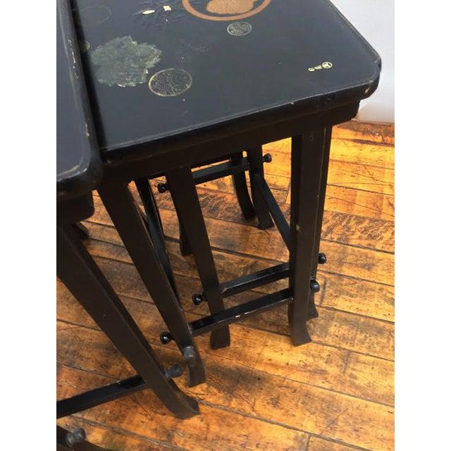 Nesting Tables - Set of 4 Vintage Japanese - Image 5 of 6