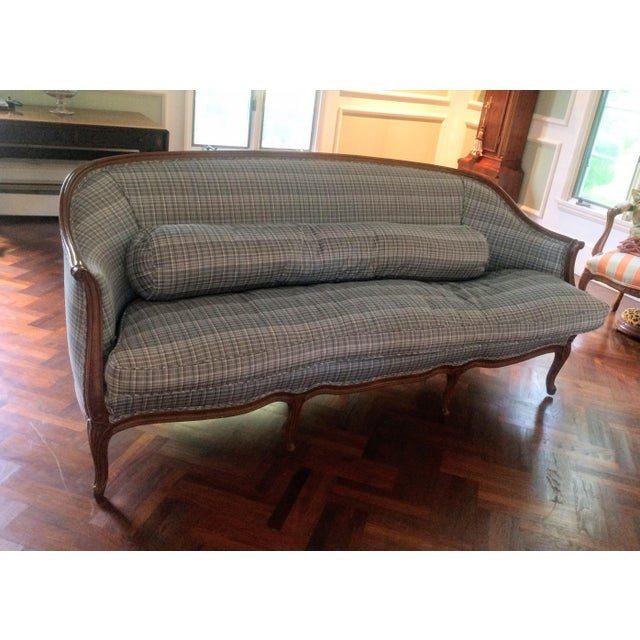 Vintage French Louis XV Style Wood Frame Sofa by Meyer Gunther Martini - Image 2 of 11