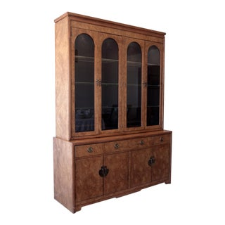 Thomasville China Cabinet - Burl Finish