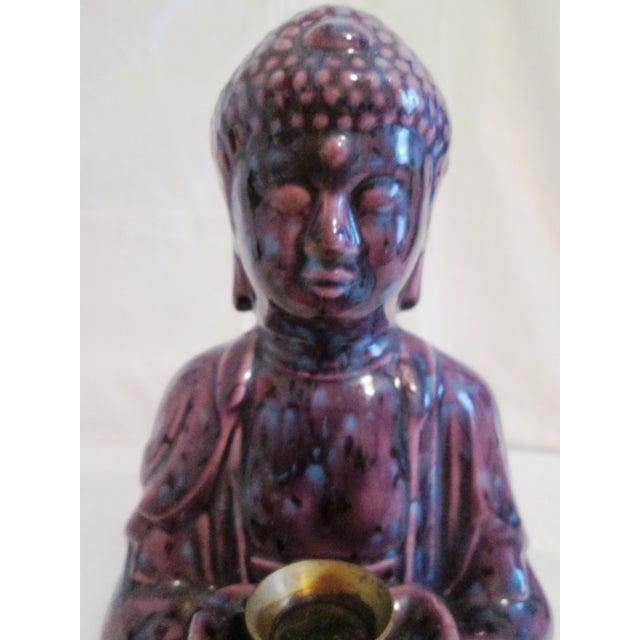 Mid-Century Dripglaze Ceramic Buddha Incense - Image 5 of 9