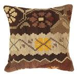 Image of Brown Pasargad Decorative Vintage Kilim Pillow