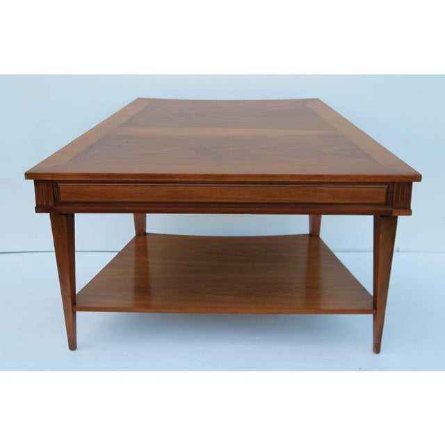 John Widdicomb Mid-Century Curved High End Walnut Accent Table - Image 7 of 11